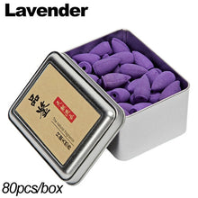 Load image into Gallery viewer, Backflow Incense Cones 80Pcs/Box Natural Aroma