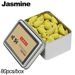 Backflow Incense Cones 80Pcs/Box Natural Aroma