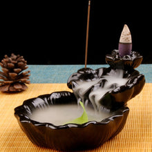 Load image into Gallery viewer, Chinese Style Running Water Design Ceramic Made Backflow Incense