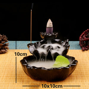 Chinese Style Running Water Design Ceramic Made Backflow Incense