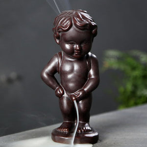 Backflow Incense Burner Home Decor Ceramic Cute Baby Smoke