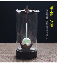 Load image into Gallery viewer, New LED Backflow Incense Burner Ceramic Home Decor