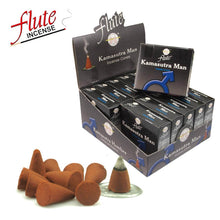 Load image into Gallery viewer, FLUTE 10 Cones/Pack Kamasutra man Aroma Lax Cone Incense