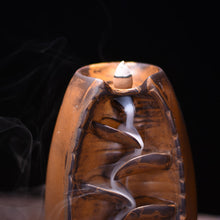 Load image into Gallery viewer, Ceramic Waterfall Backflow Incense Burner Censer Holder Meditation