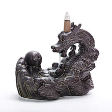 Load image into Gallery viewer, Backflow Incense Burner Dragon Home Decor Ceramic Smoke Waterfall
