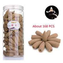 Load image into Gallery viewer, Approx 168pcs/box Incense Cones Smoke Backflow Incense Jasmine Lavender Sandalwood Fragrant Aromatherapy Indian Tibetan Cones