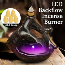 Load image into Gallery viewer, Led Lamp Backflow Ceramic Buddha's Hand Incense