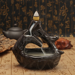 Led Lamp Backflow Ceramic Buddha's Hand Incense