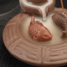 Load image into Gallery viewer, Backflow Incense Burner Ceramic Carp + 10PCS Incense Cones