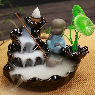 1Pc Incense Waterfall Burner Holder Home Decor Burner