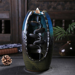 Mountain River Handicraft Incense Holder Ceramic Backflow Waterfall