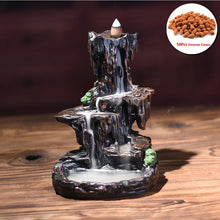 Load image into Gallery viewer, Resin Mountain Shape Smoke Waterfall Backflow Incense