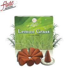 Load image into Gallery viewer, FLUTE 10 Cones/Pack Lemon Grass Aroma Spice Incense Cones