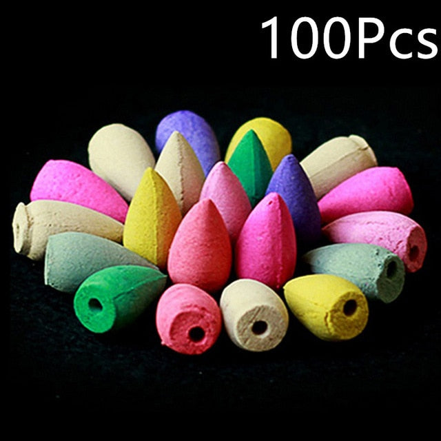 100pcs Incense Cones Mixed Backflow Incense Cones,Incense Cones