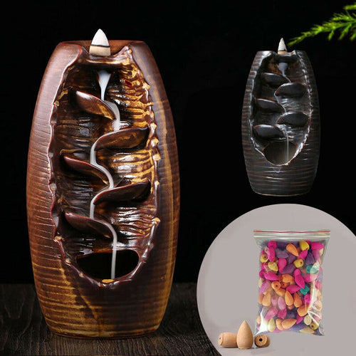 Ceramic Backflow Incense Burner Waterfall