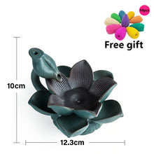 Load image into Gallery viewer, Ceramic Lotus LED Backflow Incense Burner Creative