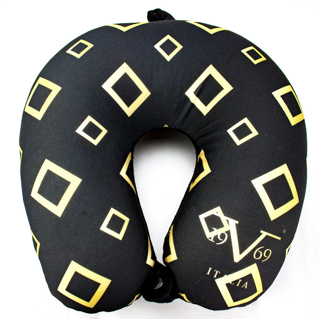 Runway Microbeads Neck Pillow - Gold Diamonds - Travellty