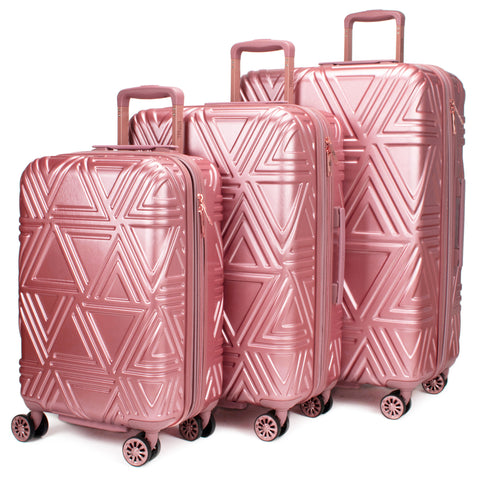 Contour 3 Piece Hard Expandable Luggage Set (Rose Gold) - [variant_title] - Travellty