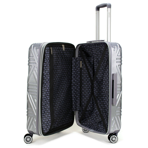 Contour 3 Piece Hard Expandable Luggage Set (Silver)