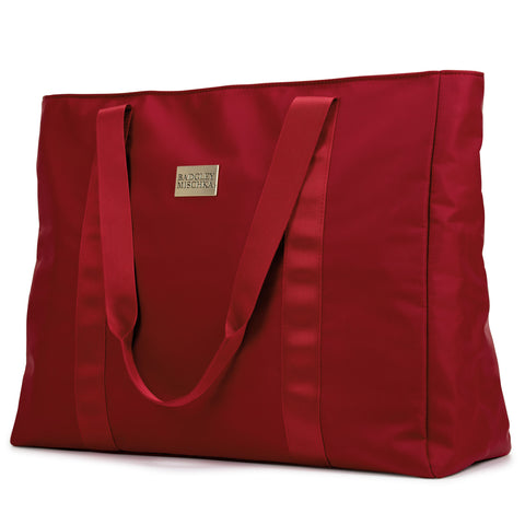 Nylon tote bag (Burgundy)