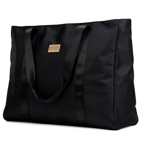 Nylon tote bag (Black)