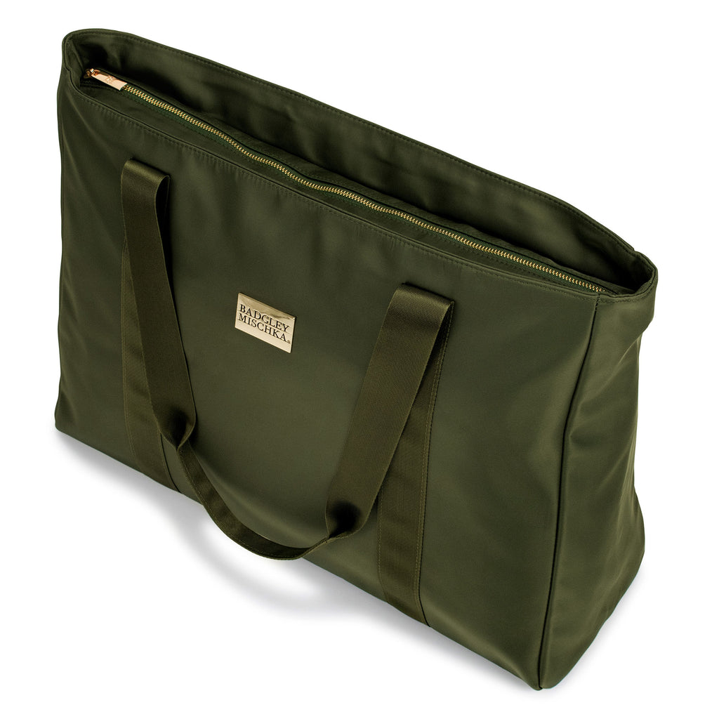 Nylon tote bag (Olive Green)