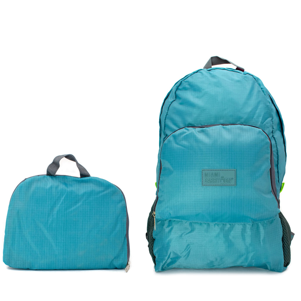 Water-resistant Foldable Backpack - Beach Blue - Travellty