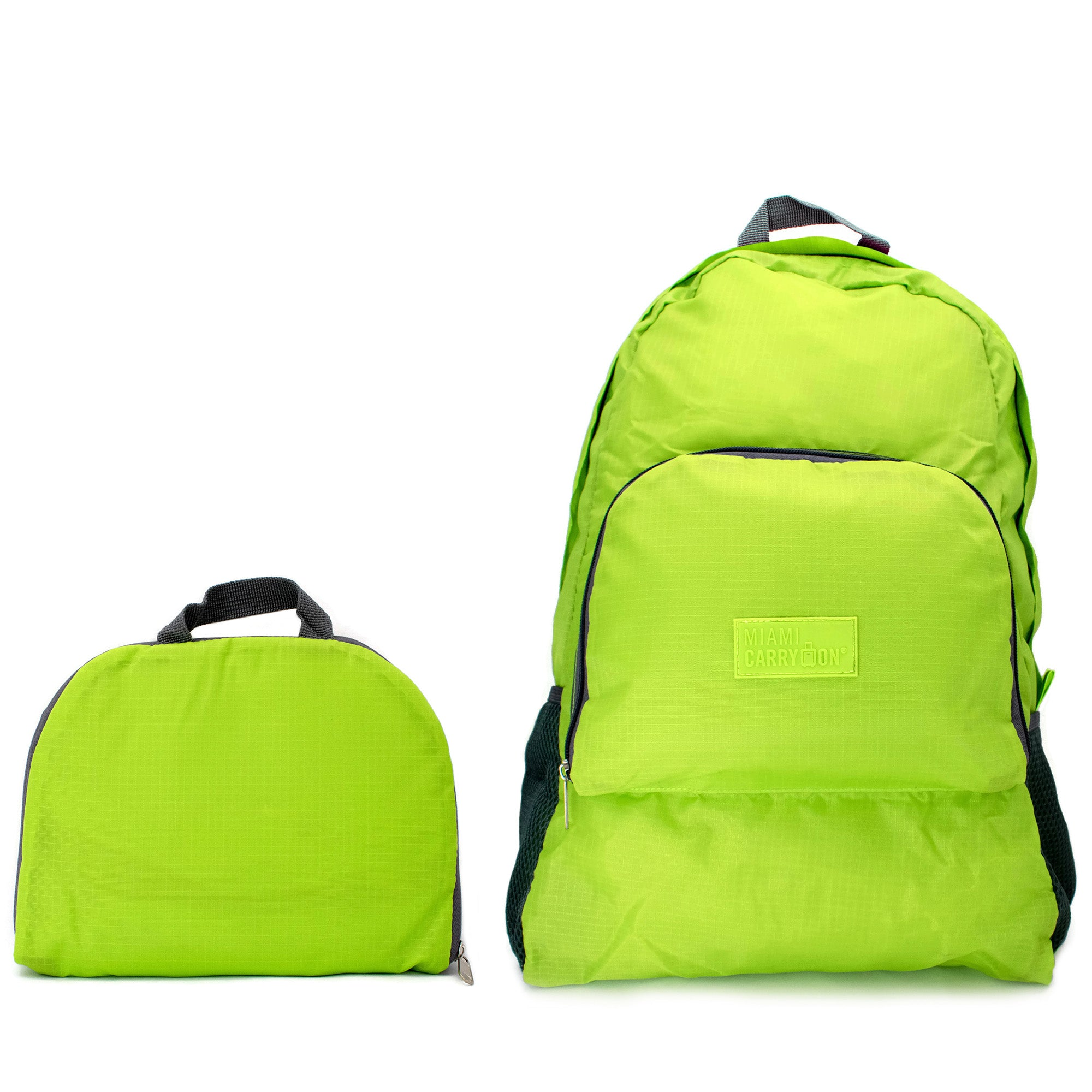 Water-resistant Foldable Backpack - Light Green - Travellty