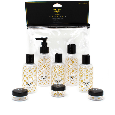 TSA Approved Bottle 9 Piece Set - Diamonds - Travellty