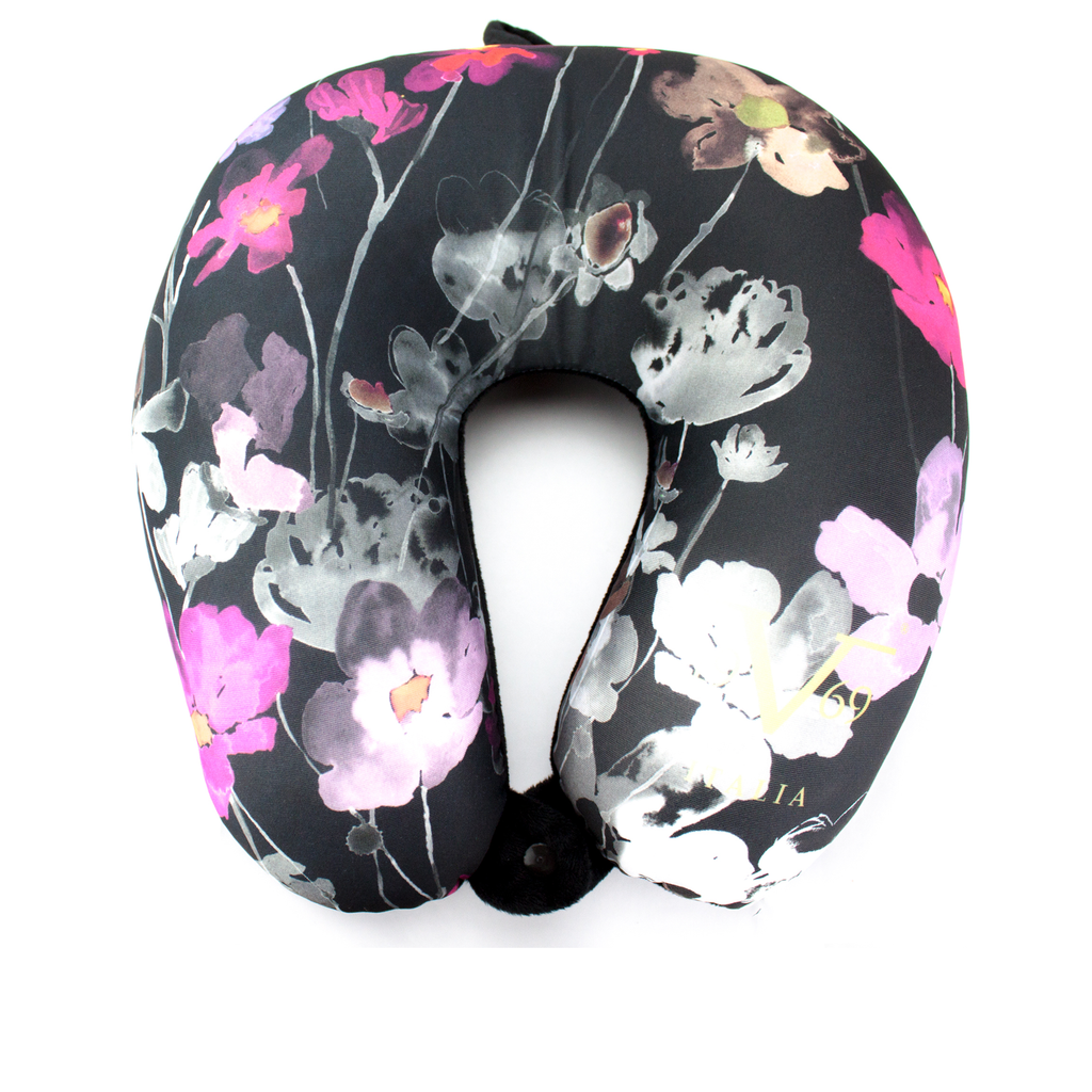 Runway Microbeads Neck Pillow - Watercolor Flowers - Travellty