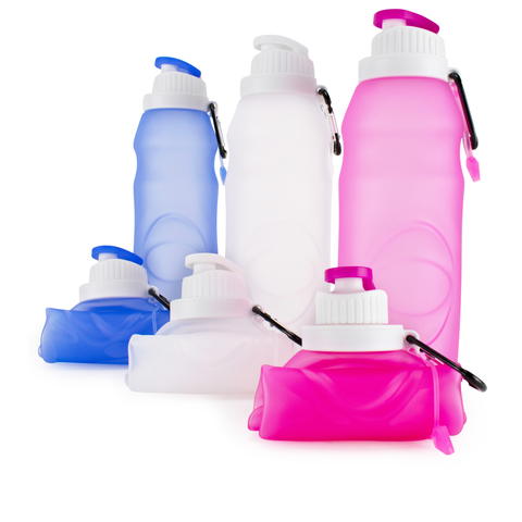 Foldable Silicone Bottle BPA Free and FDA Approved - [variant_title] - Travellty