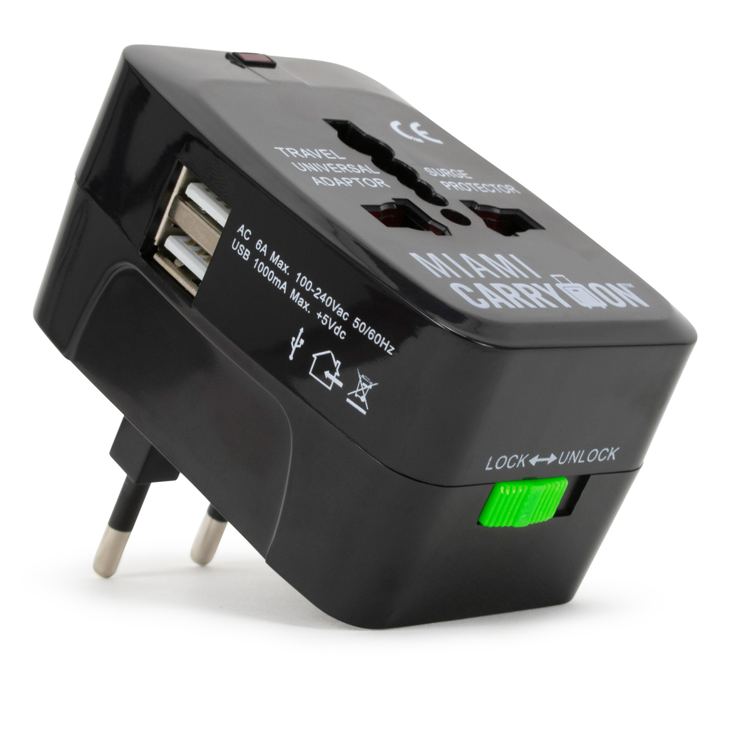 International Travel Adapter with USB Port - Black / One Pack - Travellty