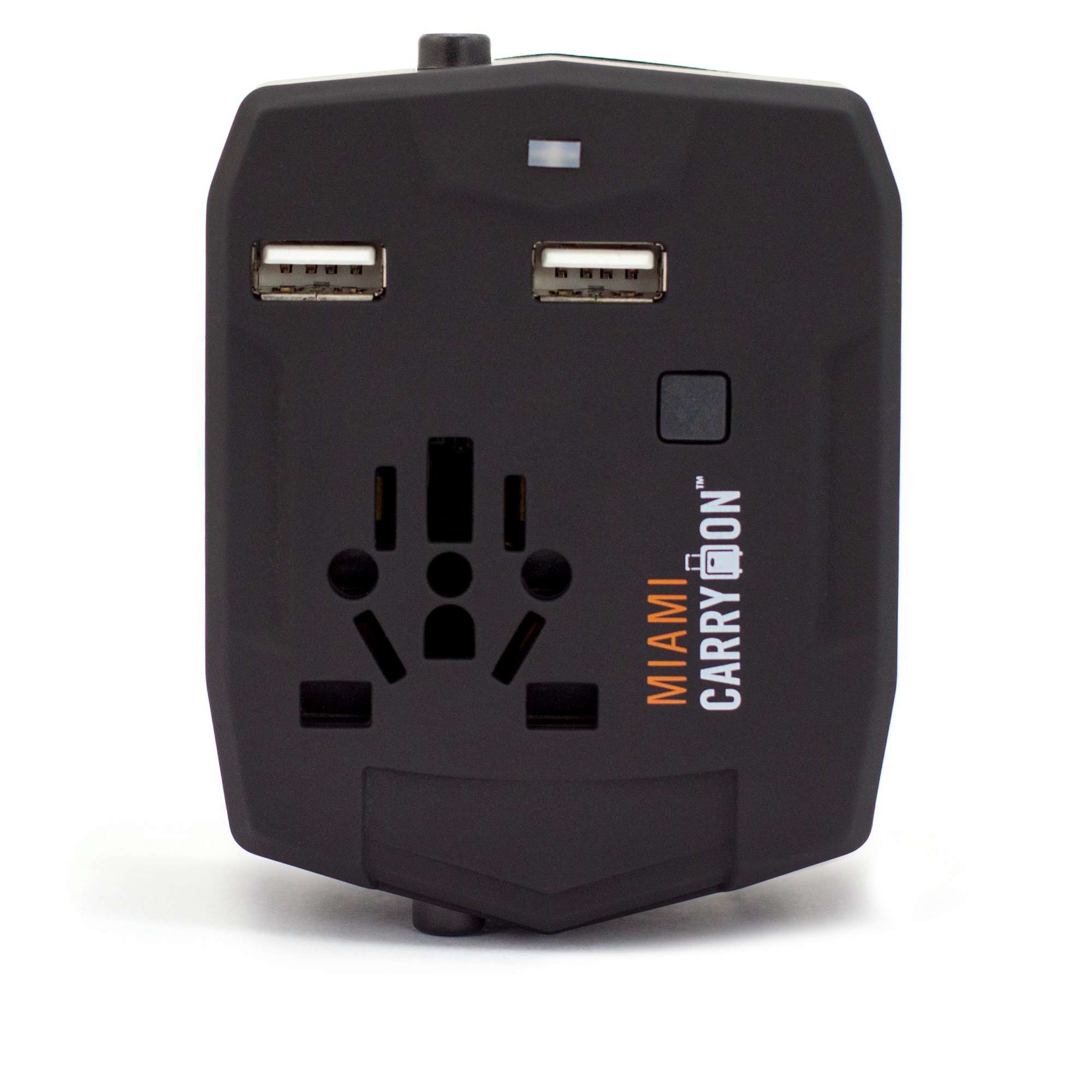 Travel Adapter with 2800mAh Power Bank and USB Ports - Black / One Pack - Travellty