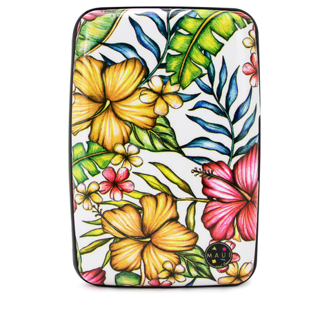Surfer RFID Wallet & Credit Card Holder - Hawaiian White - Travellty