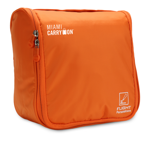 Waterproof Hanging Cosmetics and Toiletry Bag - Orange - Travellty