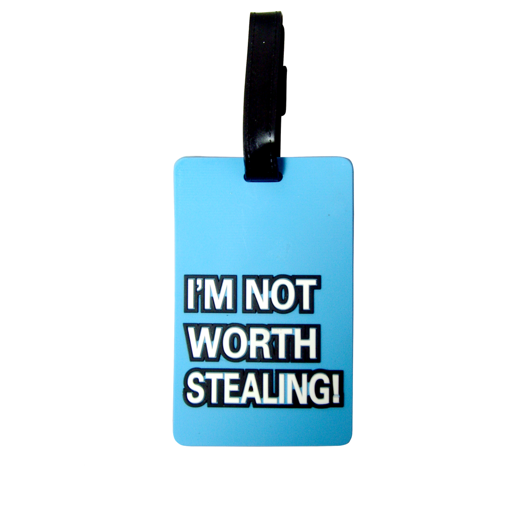 Quote Collection Luggage Tags - Not worth - Travellty