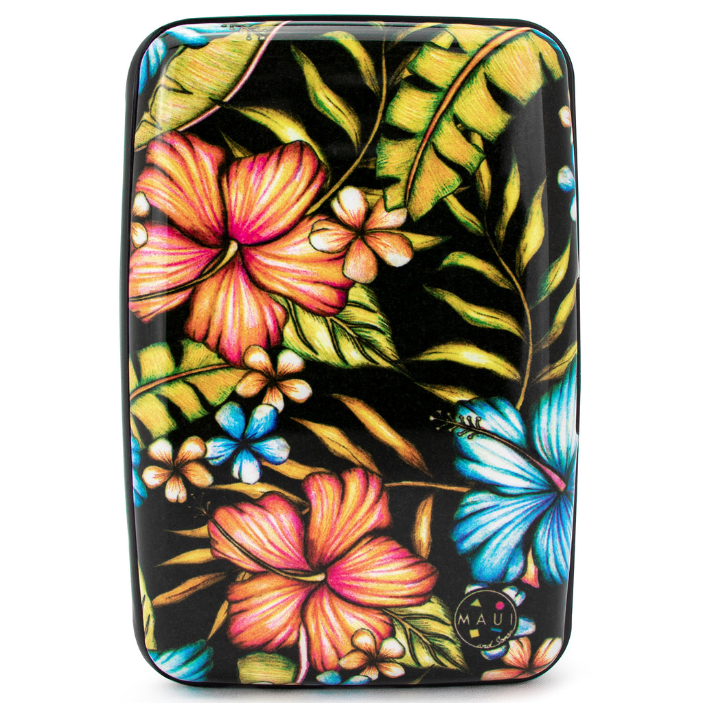 Surfer RFID Wallet & Credit Card Holder - Hawaiian Black - Travellty