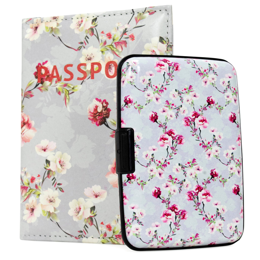 RFID Wallet & Passport Cover Set - Blossom - Travellty