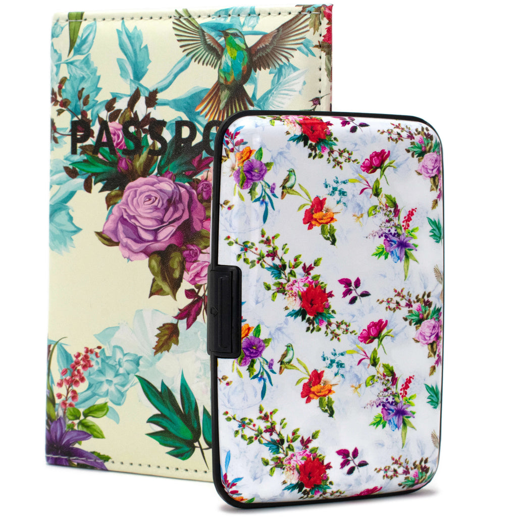 RFID Wallet & Passport Cover Set - Paradise Garden - Travellty