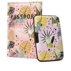 RFID Wallet & Passport Cover Set - Safari - Travellty