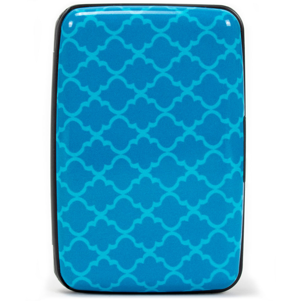 Collection RFID Wallet & Credit Card Case - Geo Blue - Travellty