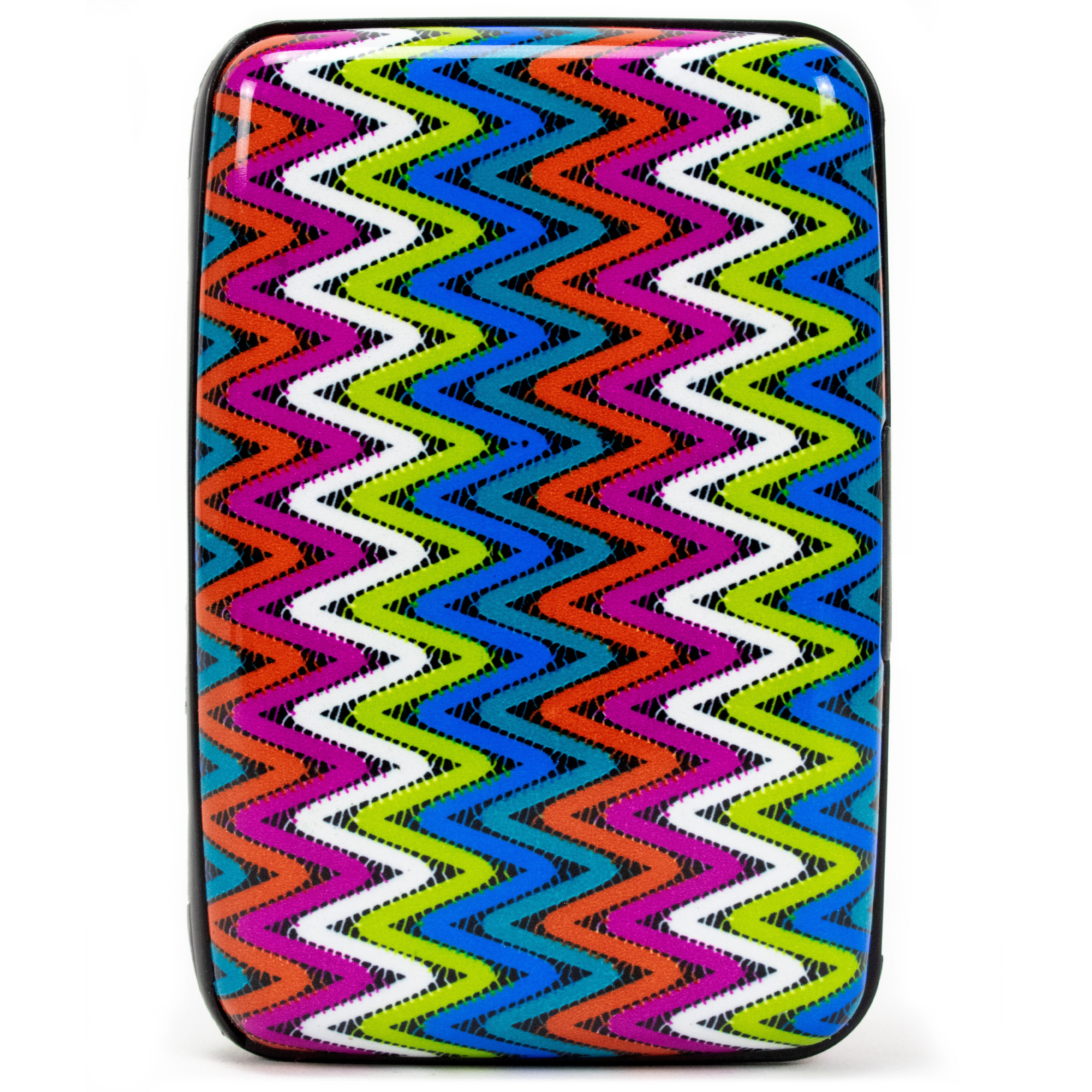 Collection RFID Wallet & Credit Card Case - Rainbow Ripples - Travellty