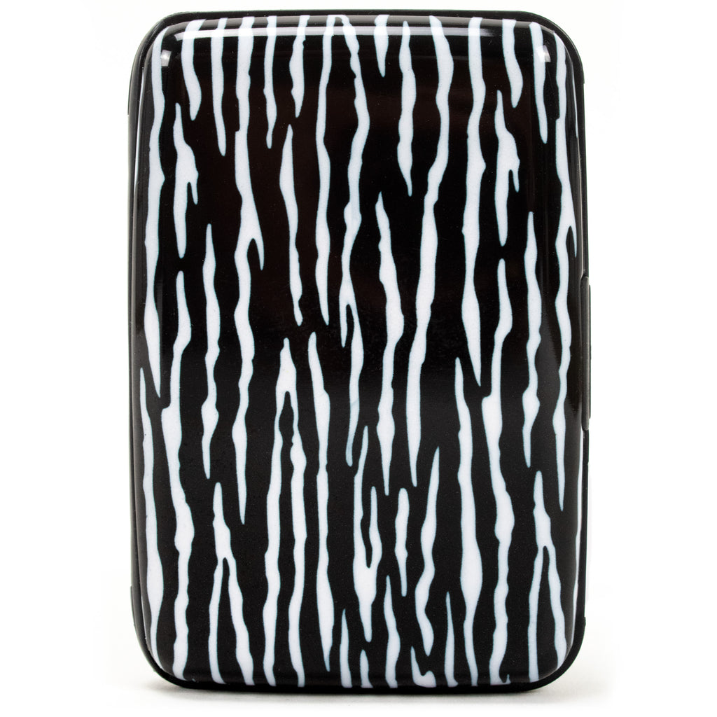 Collection RFID Wallet & Credit Card Case - Zebra - Travellty