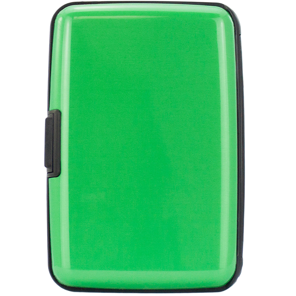 Metallic RFID Wallet & Credit Card Case - Green - Travellty