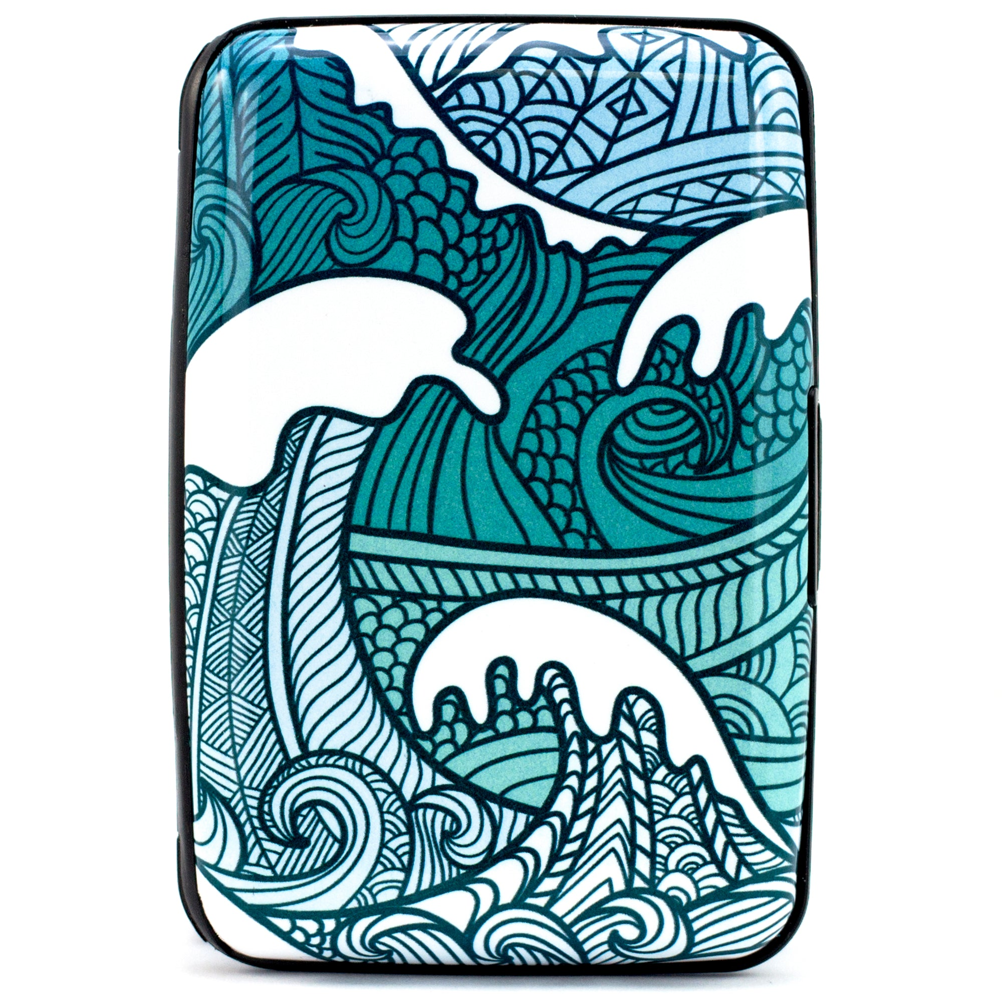 Collection RFID Wallet & Credit Card Case - Ocean Waves - Travellty