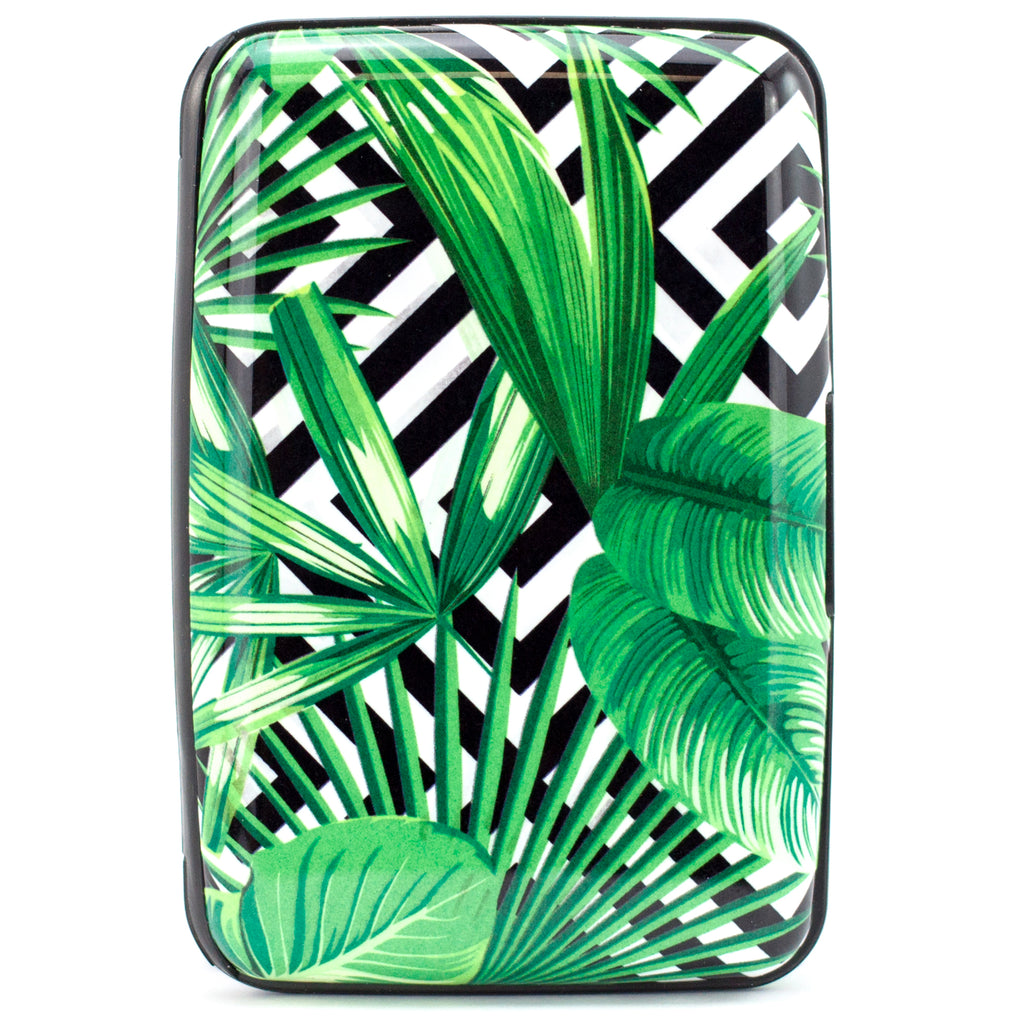 Collection RFID Wallet & Credit Card Case - Palm Leaves - Travellty
