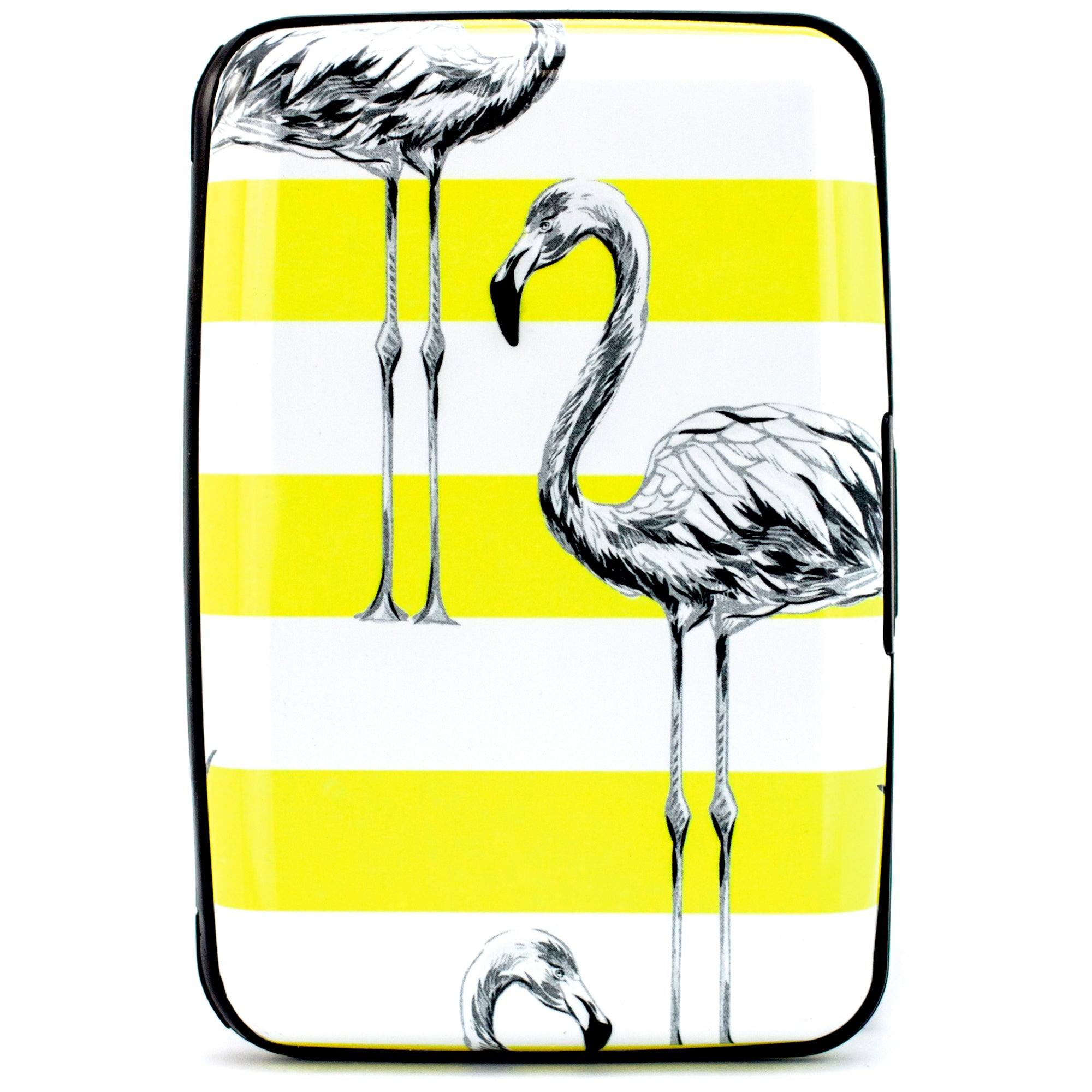 Collection RFID Wallet & Credit Card Case - Seventies Flamingos - Travellty