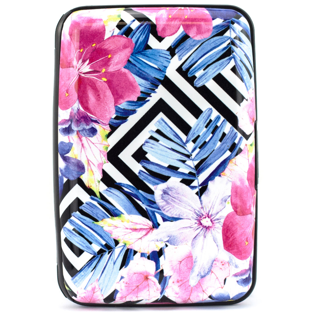 Collection RFID Wallet & Credit Card Case - Watercolor Flowers - Travellty