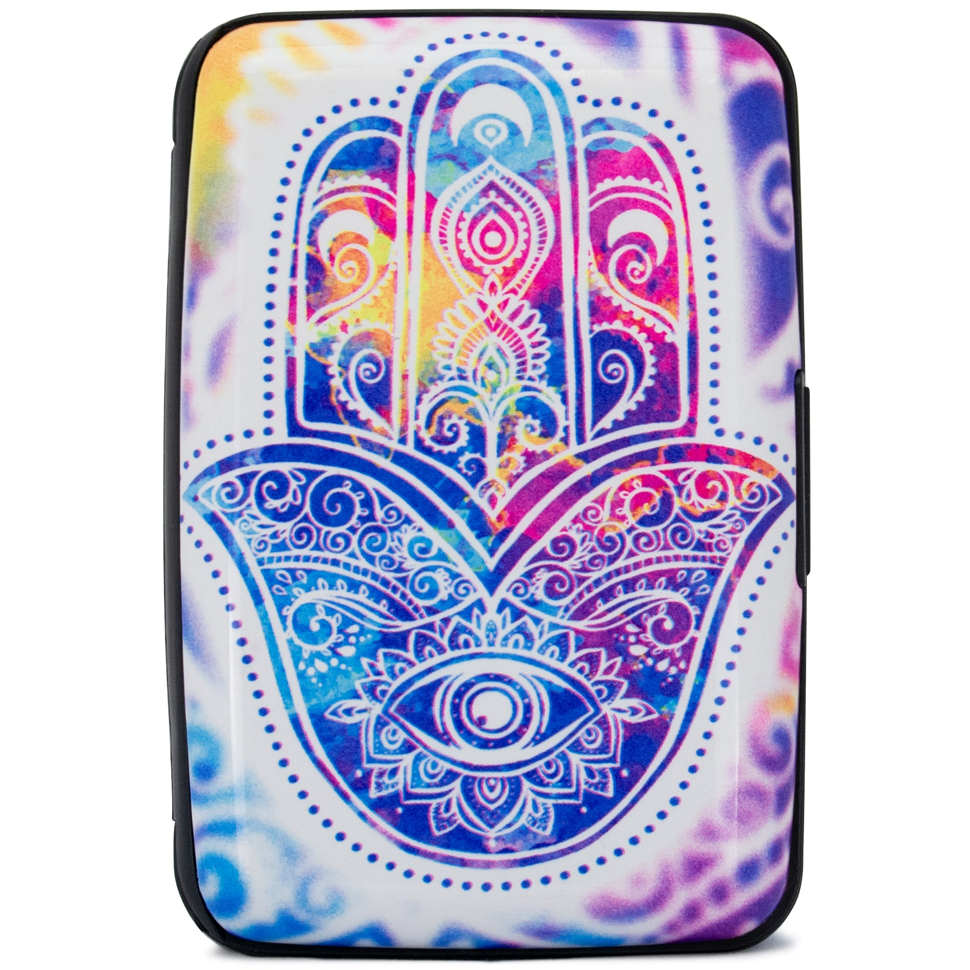 Collection RFID Wallet & Credit Card Case - Happy Hamsa - Travellty