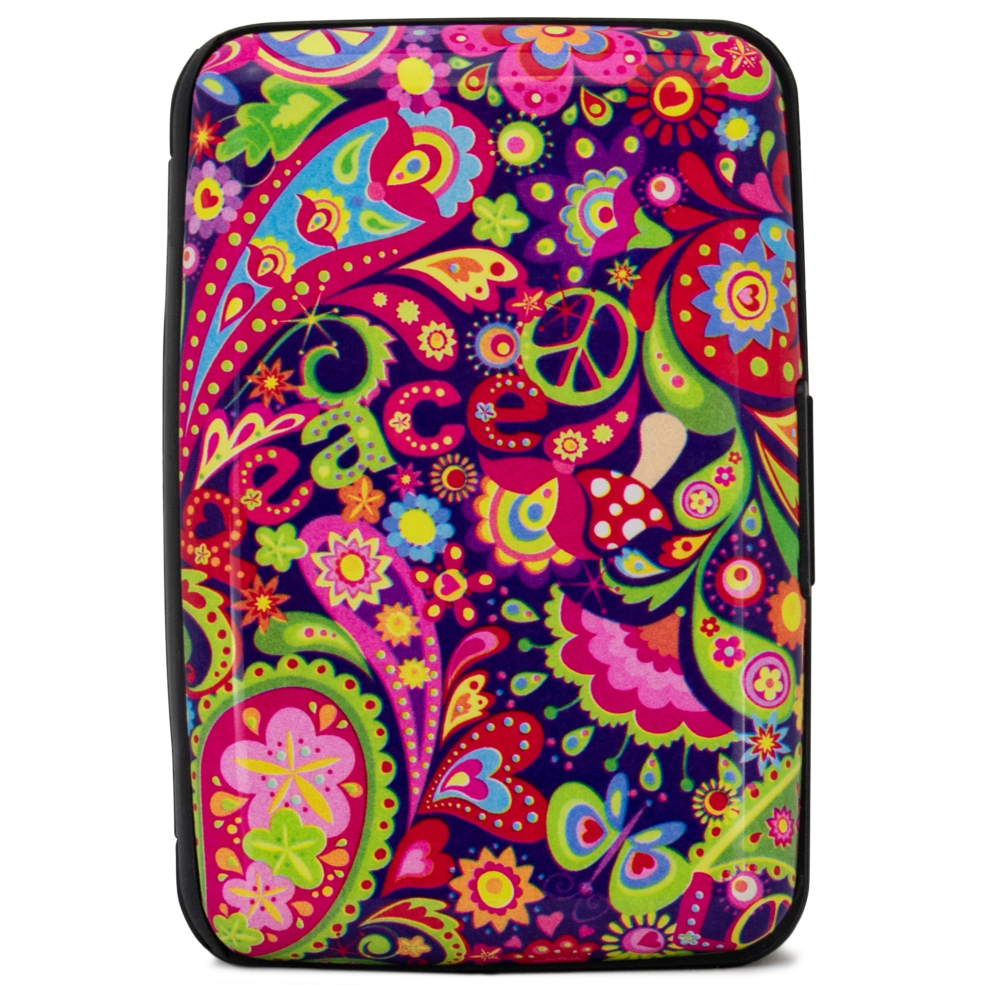 Collection RFID Wallet & Credit Card Case - Peace and Love - Travellty
